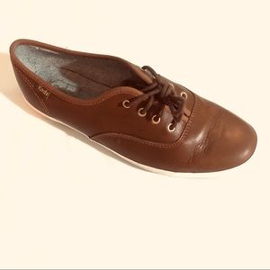 KEDS LEATHER CHAMPION TOBACCO COLOR SNEAKERS  S/8